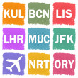 Airport codes — Stock Photo