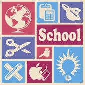 School pictogrammen — Stockfoto