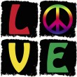 Peace and love — Stock Photo