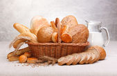 Fresh bread and pastry — Stock Photo