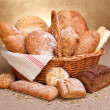 Various breads — Stock Photo