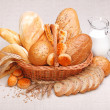 Stock Photo: Fresh bread and pastry