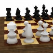 Chess pieces on table — Stock Video #12591282