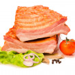 Raw pork ribs cut in half — Foto de stock #14148807