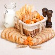 Assorted sliced bakery products - Stock Photo
