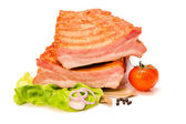 Raw pork ribs cut in half — Stock Photo