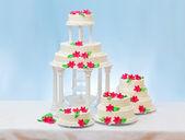 White wedding cakes — Stock Photo