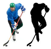 Ice hockey player and it — Stock Photo