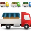 Cargo truck illustration — Vector de stock #19357583