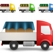 Stockvector : Cargo truck illustration
