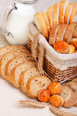 Assorted sliced bakery products — Stok fotoğraf