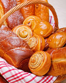 Close view of sweet bakery products — Stock Photo