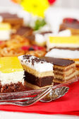 Closeup view of various sweet cakes — Stock Photo