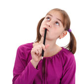Teenager girl thinking — Stock Photo