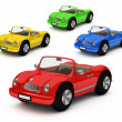 Royalty-Free Stock Photo: 3d-rendering of colorful cars car