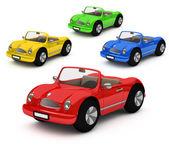 Rendu 3d de voiture voitures colorées — Photo
