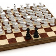 Symbolic chess revolution — Stock Photo