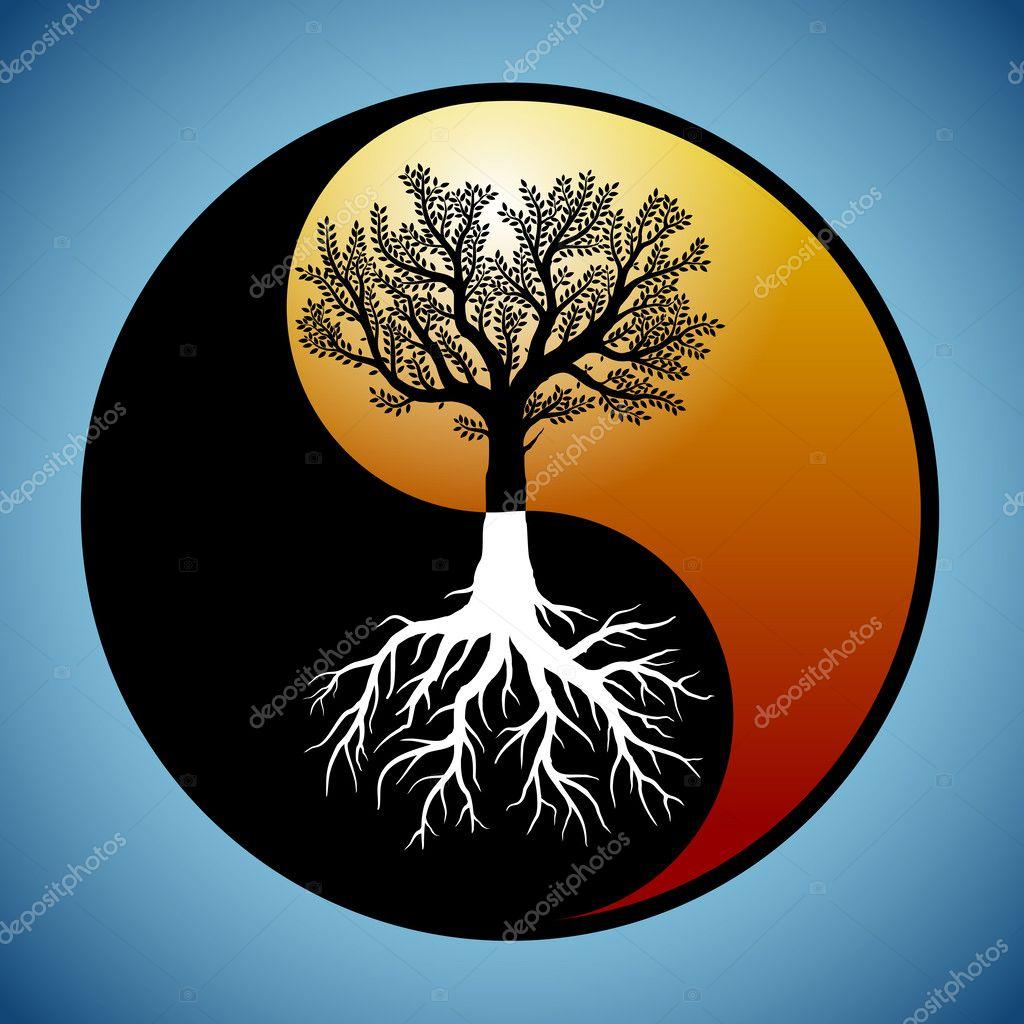 Символ мудрости - дерево Инь Янь из бисера