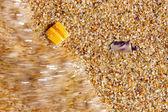 Onda di acqua di mare riva di lavaggio — Foto Stock