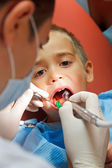 Little boy at dentist — Stock Photo