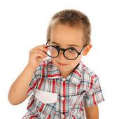 Wise little boy — Stock Photo