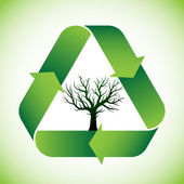 Tree in recycle symbol — Stock Vector