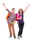 Vrolijke studenten — Stockfoto