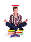 Meditating teenager — Stock Photo