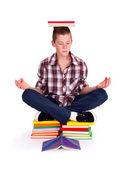 Meditando adolescente — Foto de Stock