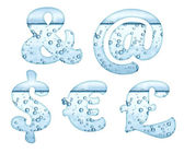 Mineral water characters on white — Stock Photo