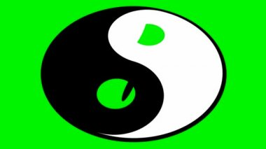 Rotating yin yang symbol — Stock Video