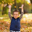 Excited boy playing — Stock Photo