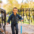 Happy little kid playing — Stock Photo #33319955