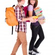 Chatting Students Back to School — Stock Photo #33786675