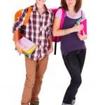 Teen Kids returning to School — Stock Photo