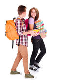 Chatting Students Back to School — Stock Photo