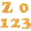 Numbers made of corn seeds — Stock Photo #34174009