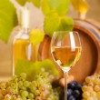 Stock Photo: White wine glass (shallow DOF)