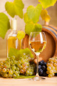 White wine glass (shallow DOF) — Stock Photo