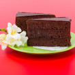 Stock Photo: Chocolate layer cake