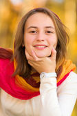 Portrait of a pretty teenager girl — Stock Photo