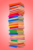 Colorful stacked books — Stock Photo