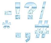 白のミネラルウォーター文字 — ストック写真