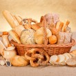 Fresh bakery products and ingredients — Stock Photo #42799581
