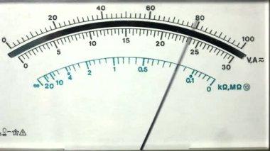 Analog multimeter display — Stock Video