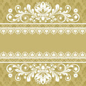 Vector vintage floral background — Stock Vector