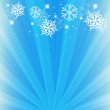 Vector winter background with snowflake — Imagen vectorial