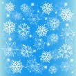 Vector winter background with snowflake — Stock Vector
