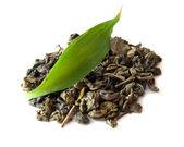 Green tea isolated — Stock Photo