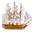 Stock Photo: Frigate isolated
